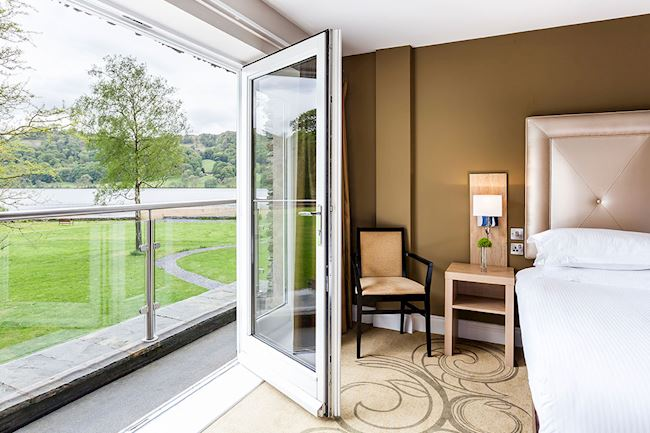 Stunning Lake Views from the Lake View Suite with Patio Doors at Daffodil Hotel