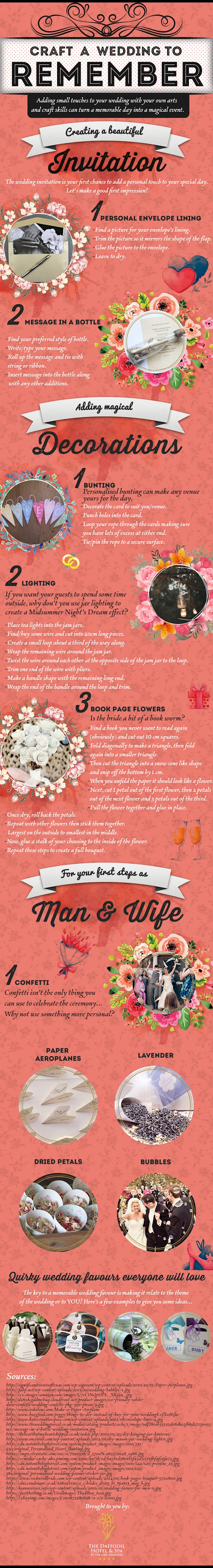 Craft A Wedding To Remember | The Daffodil Hotel & Spa