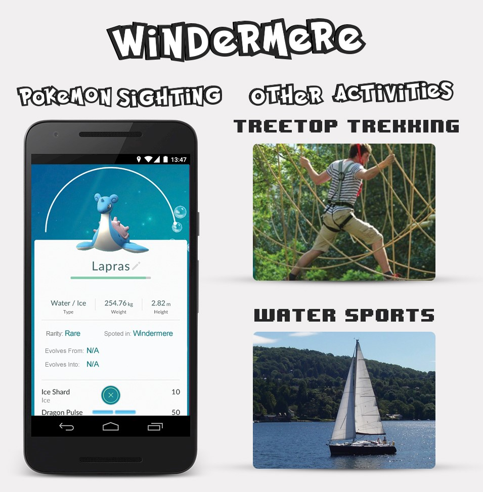 Windermere Pokemon Sightings
