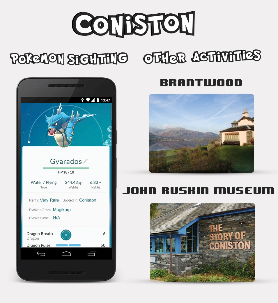 Coniston Pokemon Sightings