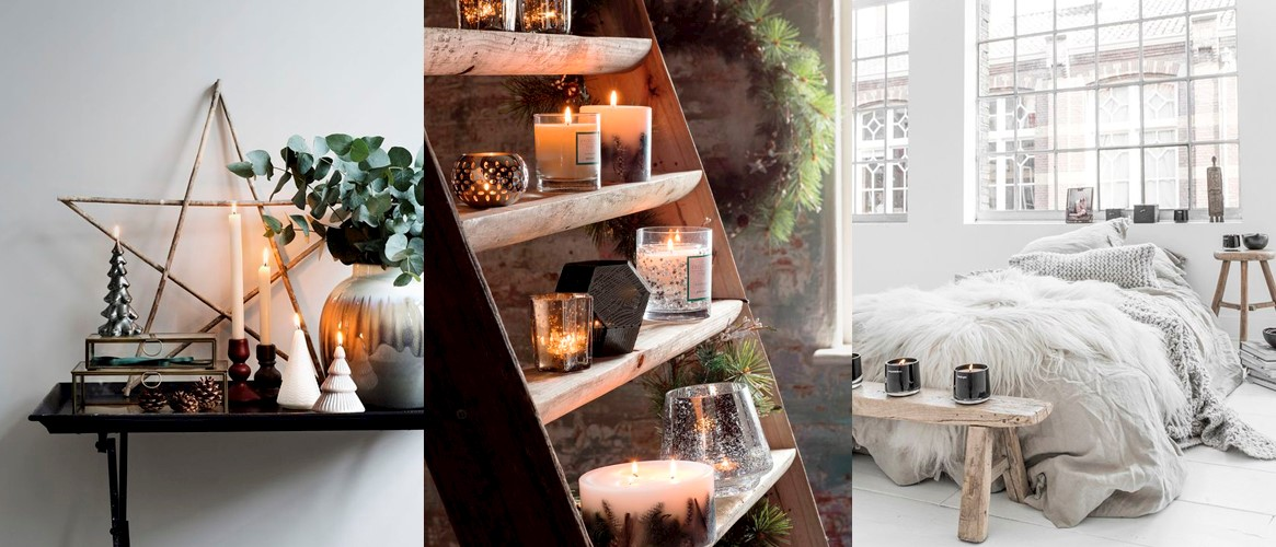 hygge lights candles