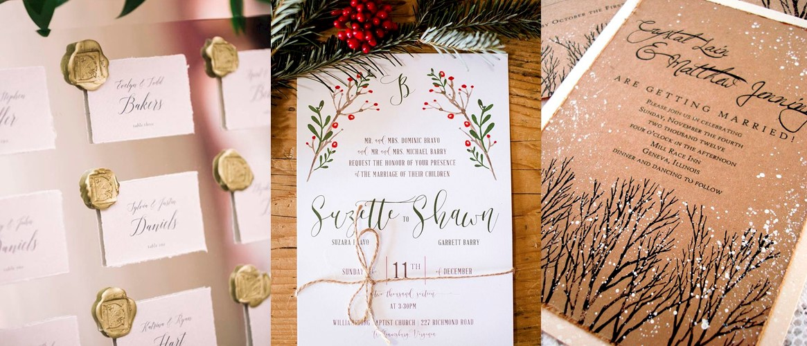 Christmas Wedding Stationary