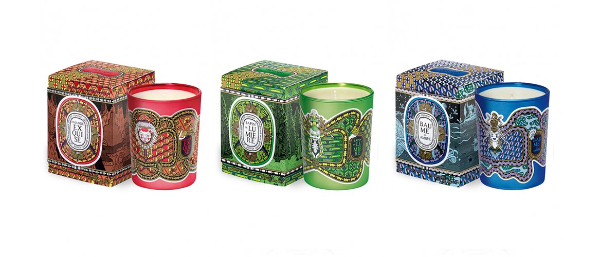 diptyque Legend of The North luxury christmas candle